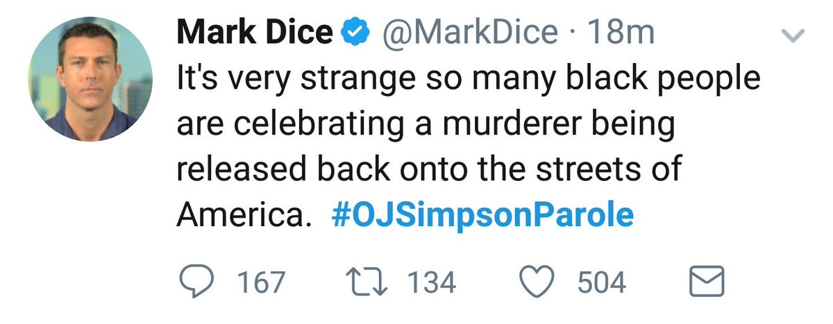 Conservative Twitter, a tale of two tweets.  #OJSimpsonParole