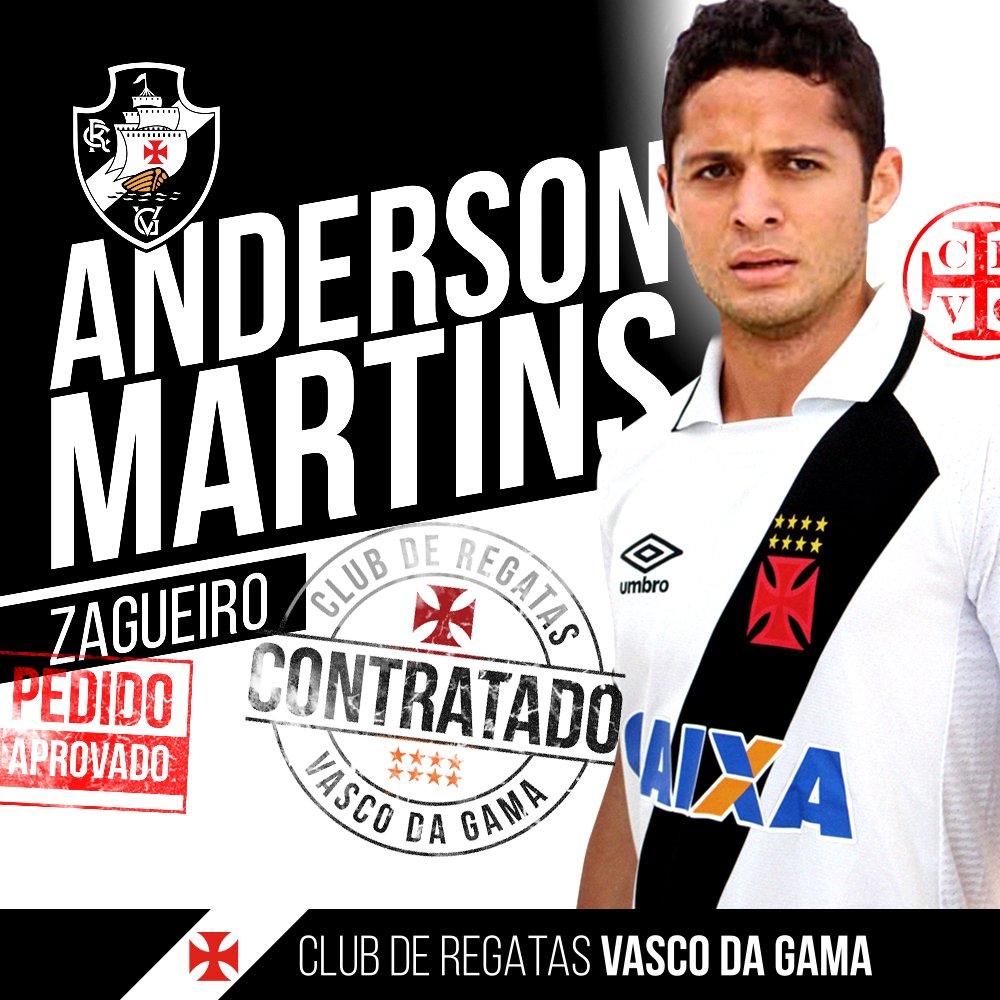 O maior pedido da torcida cruzmaltina foi atendido! Anderson Martins é do Vascão!