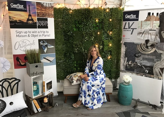 Gerflor USA's Michelle Sandoval, attended Allegheny Contract Post Neocon 2017. Michelle's booth highlighted the award winning Creation LVT. https://t.co/vDXVQ83Y7y