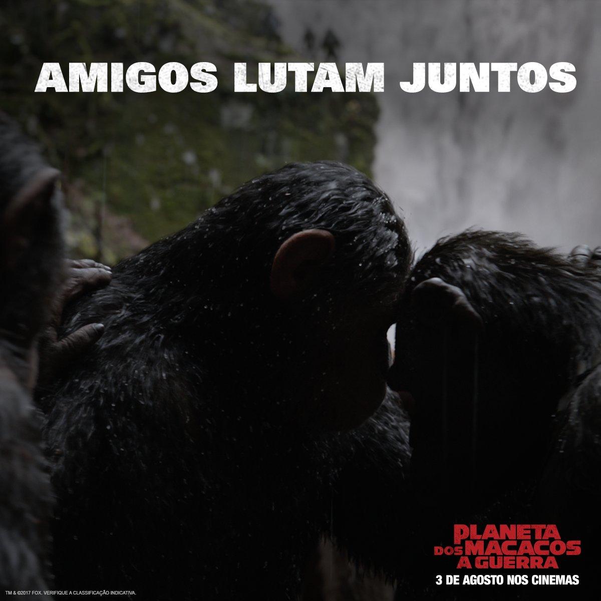 Marque aquela pessoa que lutaria lado a lado com você. Feliz Dia do Amigo! #PlanetaDosMacacosAGuerra, 3 de agosto nos cinemas em 3D.