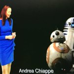 Our Director @ChiappeAndrea during her #AI & #Blockchain preso today with help from a few #StarWars buddies! @AIIMIntl #IG #InfoGov #ECM