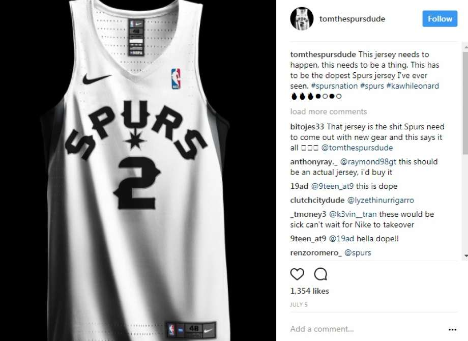 40109ed4648 ... San Antonio Spurs 20 Alternate A Fiesta jersey Fans come up with their  own designs for Spurs uniform https 7acd09b4ba67ed7b6afe330714ff2112origina  ...