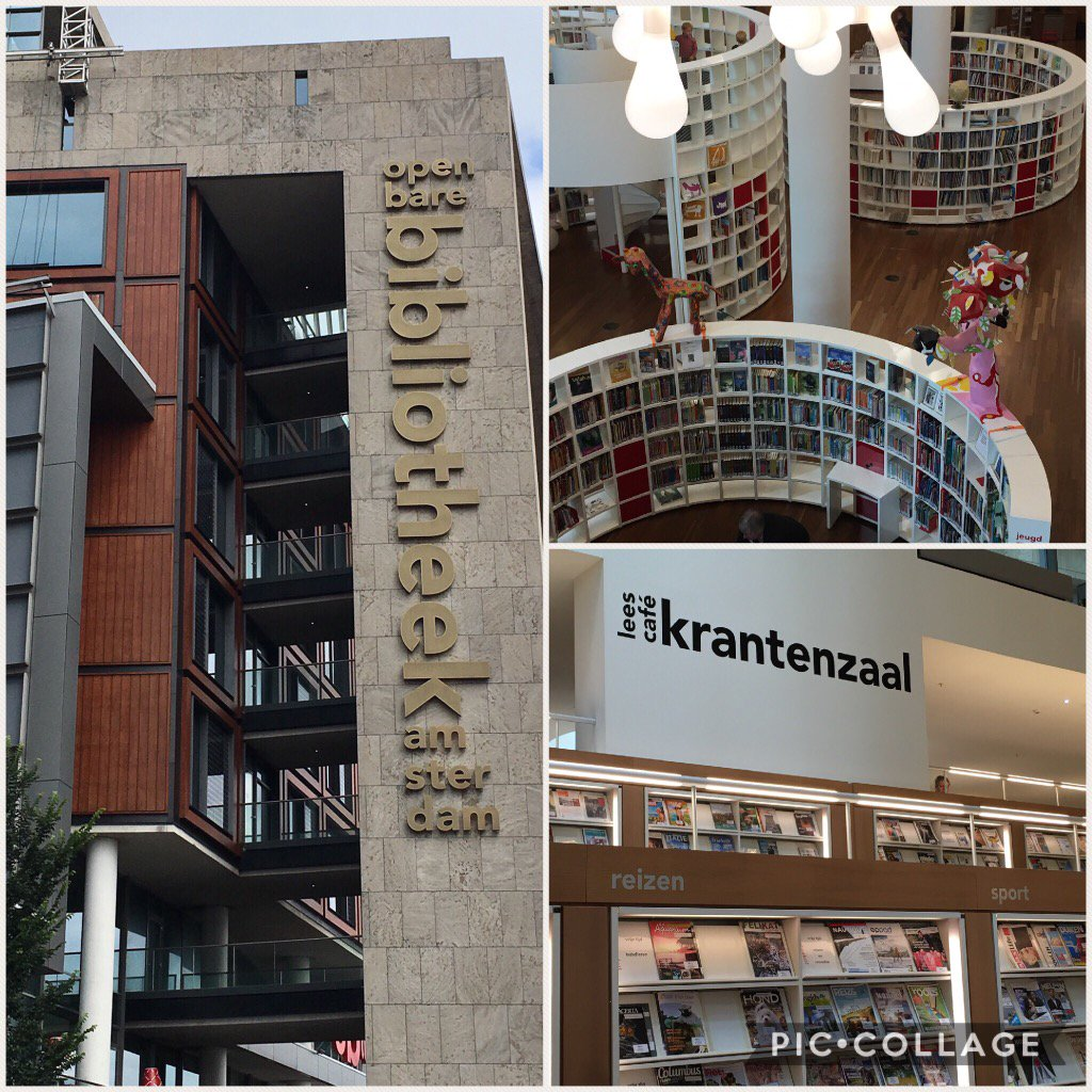 The fabulous #amsterdambibliotheek - no holiday complete without visiting the local library #iamalibrarian <br>http://pic.twitter.com/W0BkFKZ1eQ