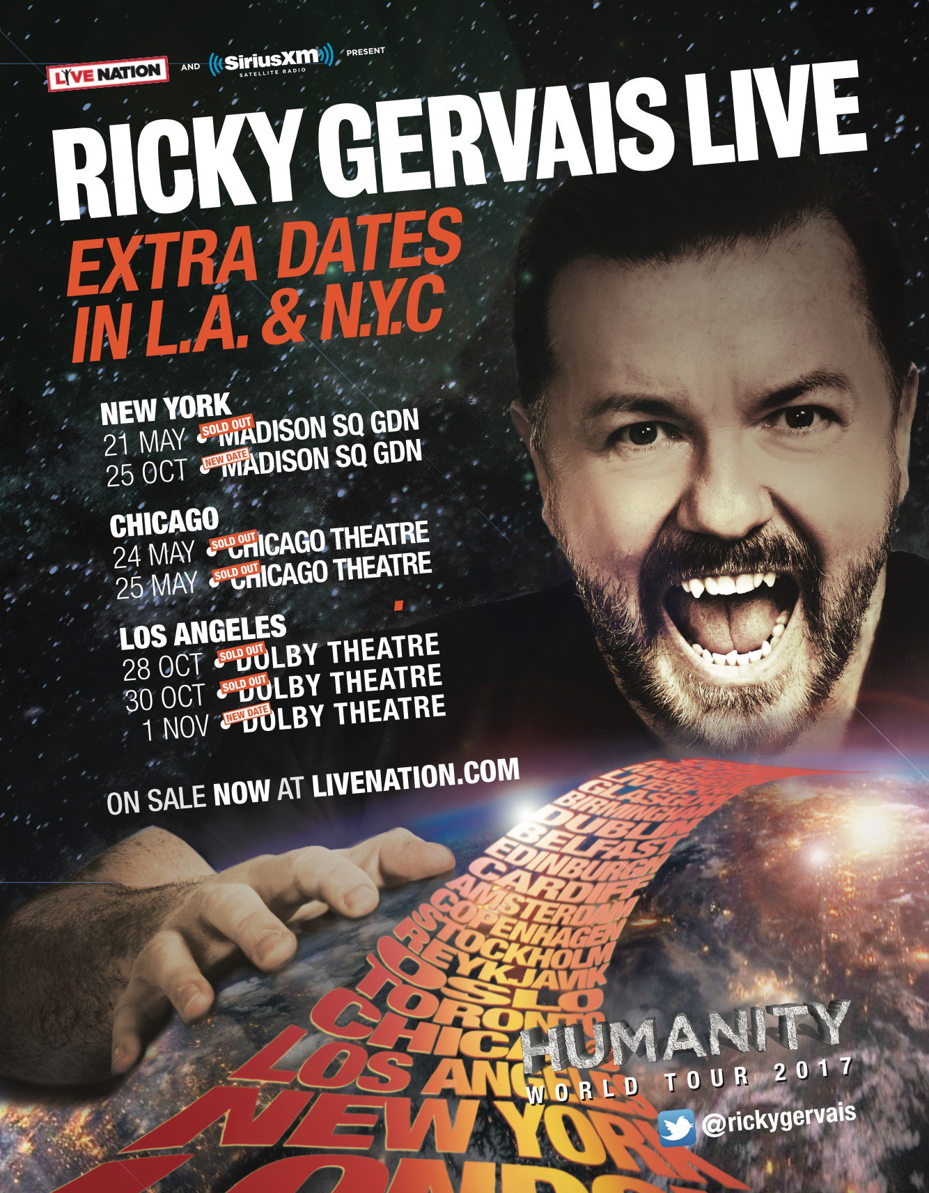 Final #Humanity dates in LA and New York on sale now https://t.co/y0f4n5N9oE Good Luck. https://t.co/84AibU9NqC
