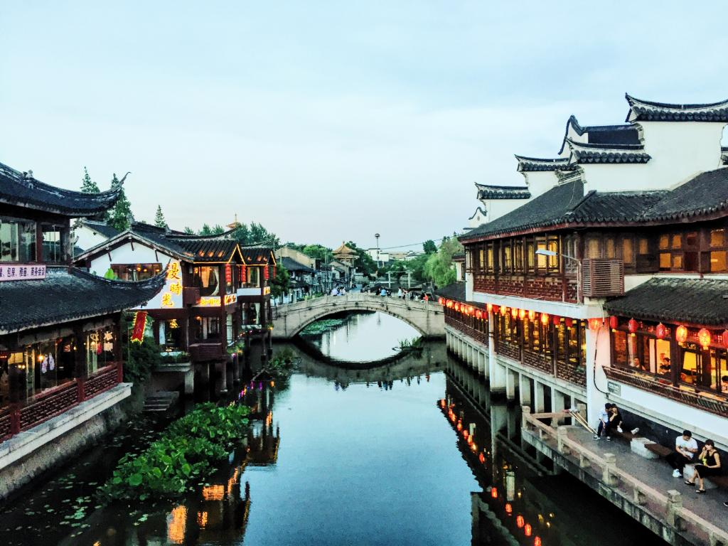 Shanghai is home to peaceful surprises, like the ancient canal-side town of Qibao. Discover it yourself non-stop from #YUL, #YYZ &amp; #YVR!<br>http://pic.twitter.com/aowQHmTahN