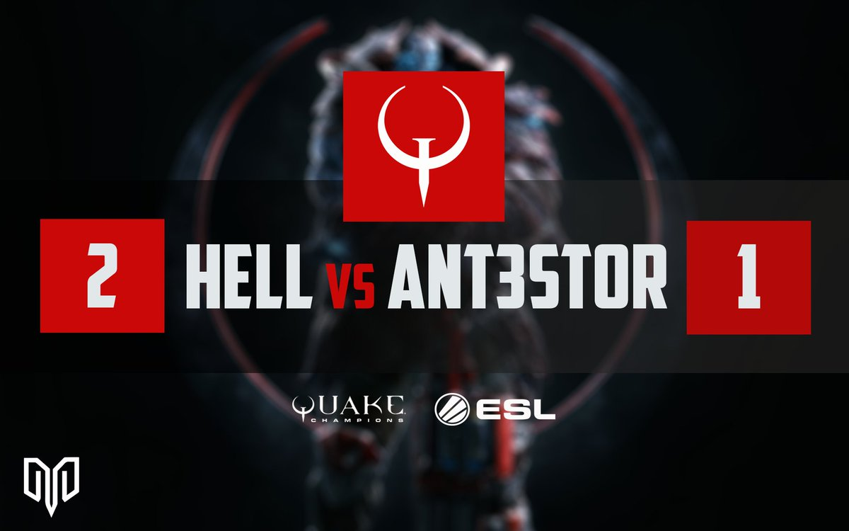 GGs - @HELLq4 beats Ant3stor 2-1 and secures Sunday playoff spot, Hell vs Sephis.. #QWC #quakechampions #eslquakepic.twitter.com/9FRJQvCAYR