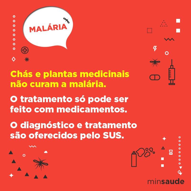 Um bom chazinho não irá curar a malária. O tratamento deve ser feito com medicamentos. Quer saber mais? Acesse: https://t.co/cYJeSJ7BKU
