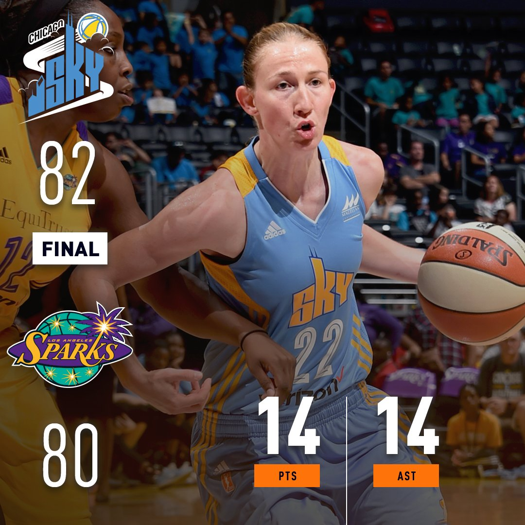 A career-high 14 AST for Vandersloot leads the @wnbachicagosky to victory! #WatchMeWork