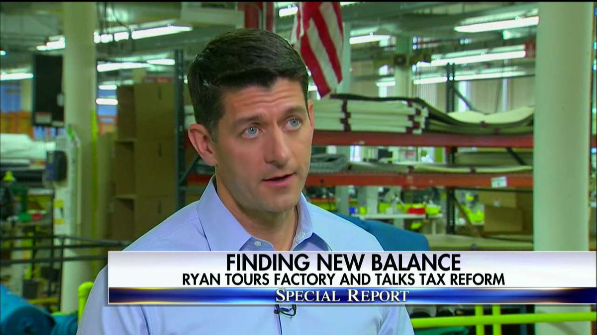.@SpeakerRyan: 'We know we have to do tax reform. It's a once-in-a-generation opportunity.' #SpecialReport