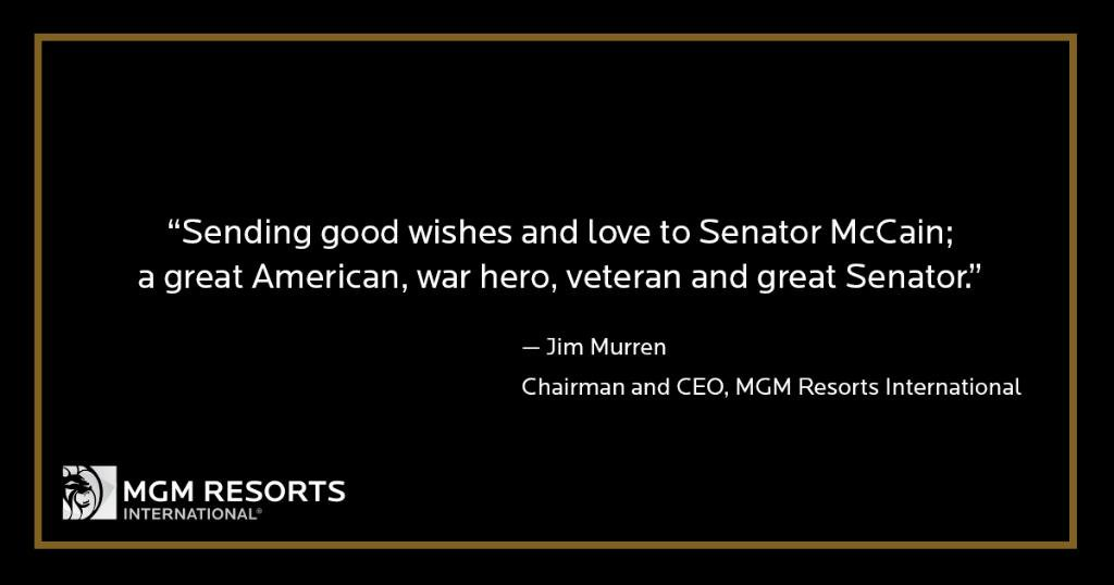 Sending good wishes and love to @SenJohnMcCain; a great American, war hero, veteran and great Senator.