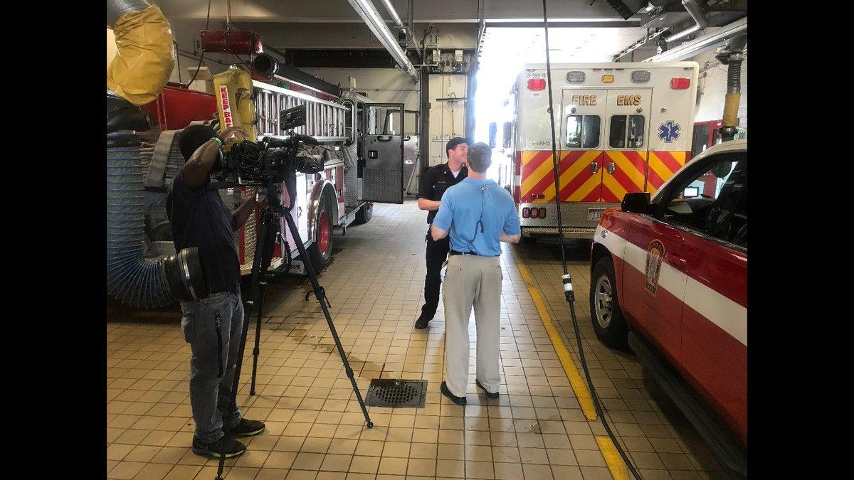 Capt. Alex Capece - serve, protect & educate. Talking heat & providing heat safety tips w/  &  toda@nbcwashingtony. @ABC7News#StayCoolDC
