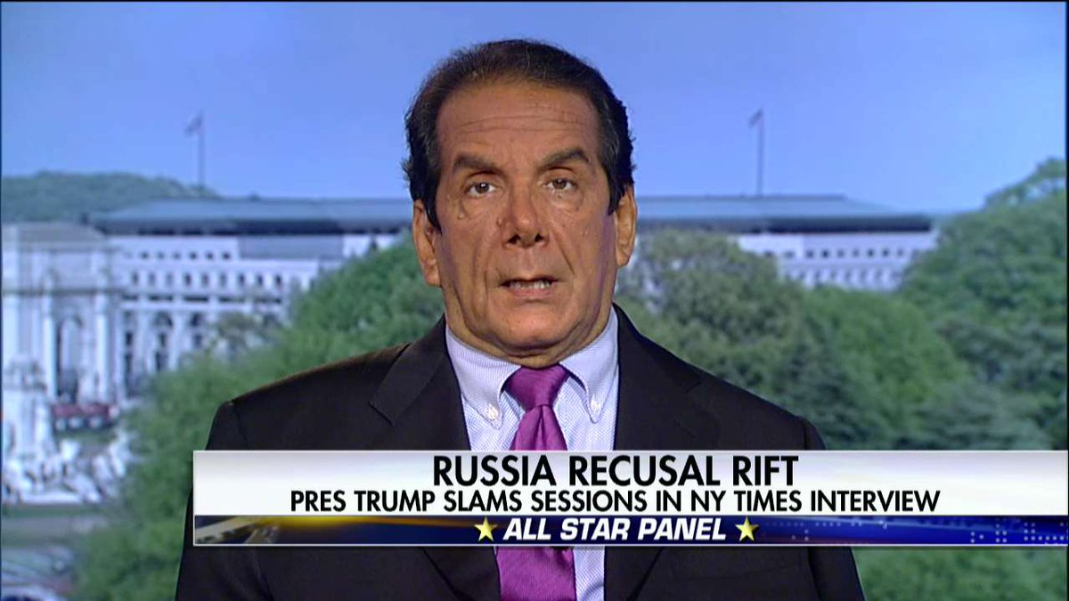 .@krauthammer on @POTUS slamming AG Sessions: 'I think this sort of limits [Sessions'] tenure.' #SpecialReport