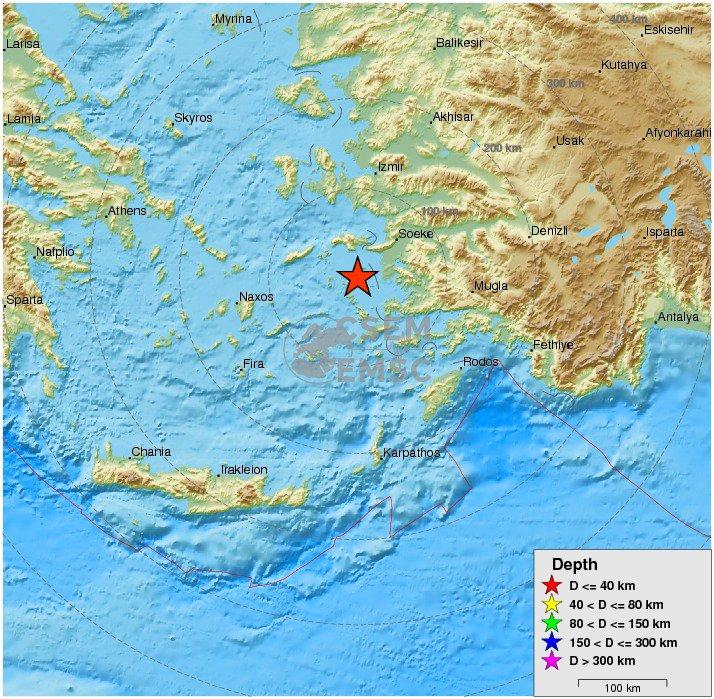 strong #earthquake shakes Dodecanese Islands, #Greece 14 min ago. More...