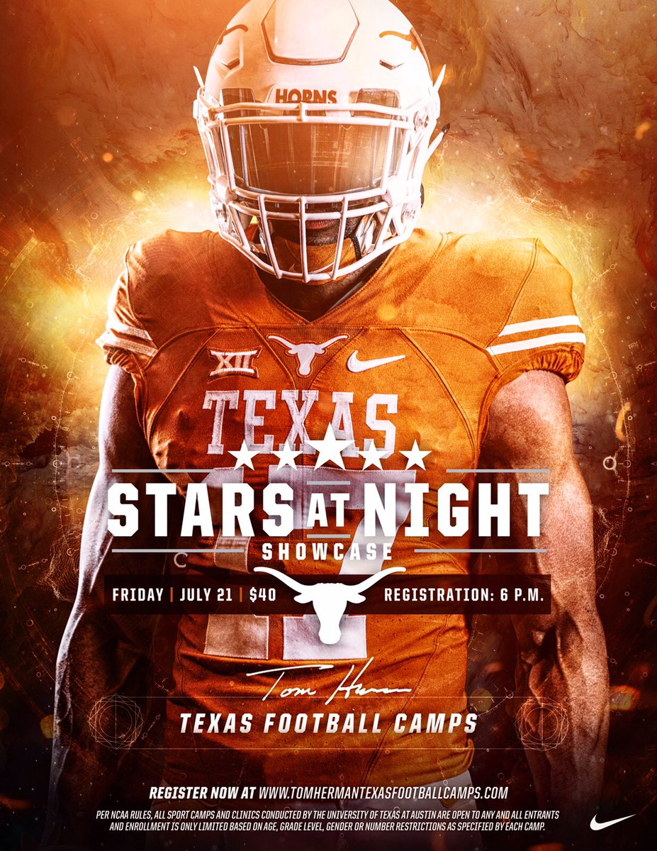 Texas Football V Twitter Reminder Every Camper Must Have A