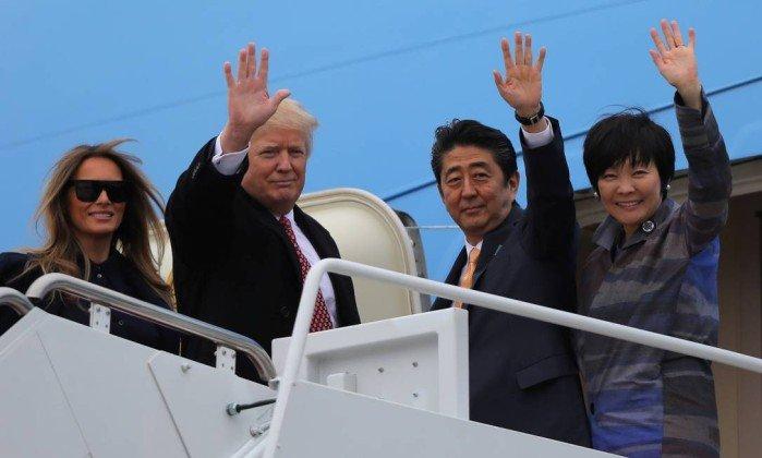 Primeira-dama do Japão teria fingido não saber inglês para evitar Trump. https://t.co/1UPA8kSzoX