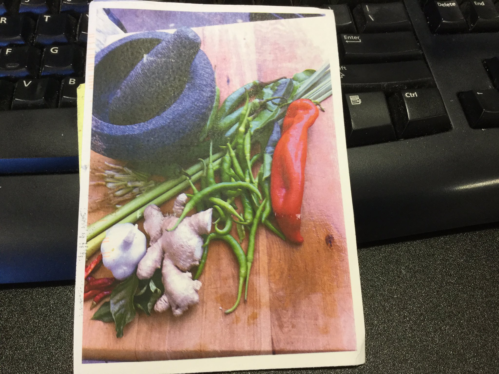 I wonder if the maker of this #clmooc postcard is on twitter? I hope the green curry was yummy! https://t.co/4DERV3n3PK