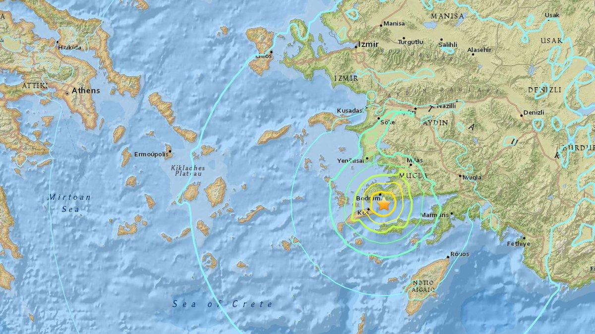 #EARTHQUAKE: 6.7-magnitude earthquake strikes near Bodrum, Turkey, USG...