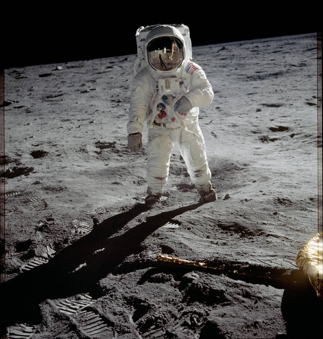 Buzz Aldrin tweets about how the iconic image of him on the moon was taken