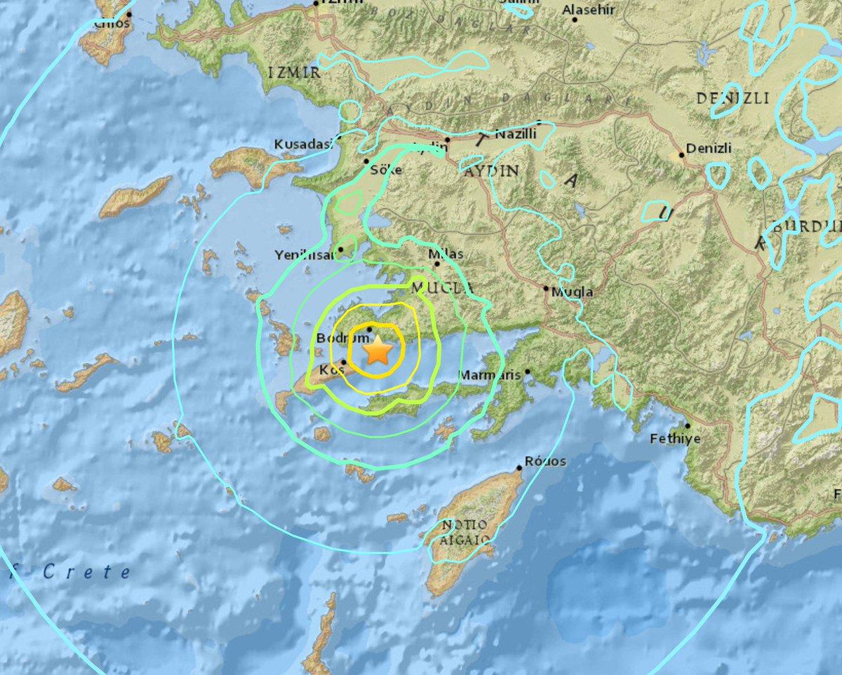 Terremoto causa 2 morti a Kos