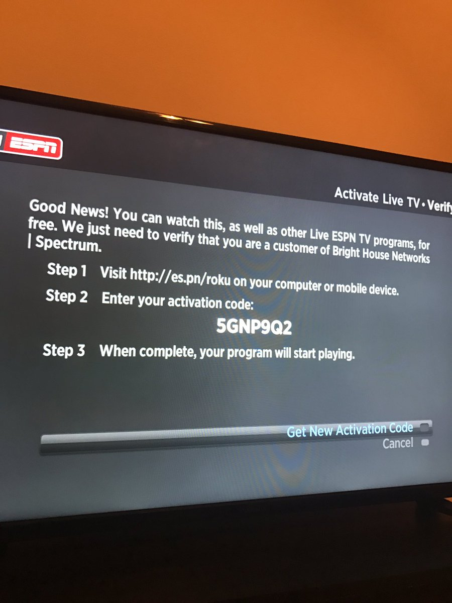 spectrum espn activation code