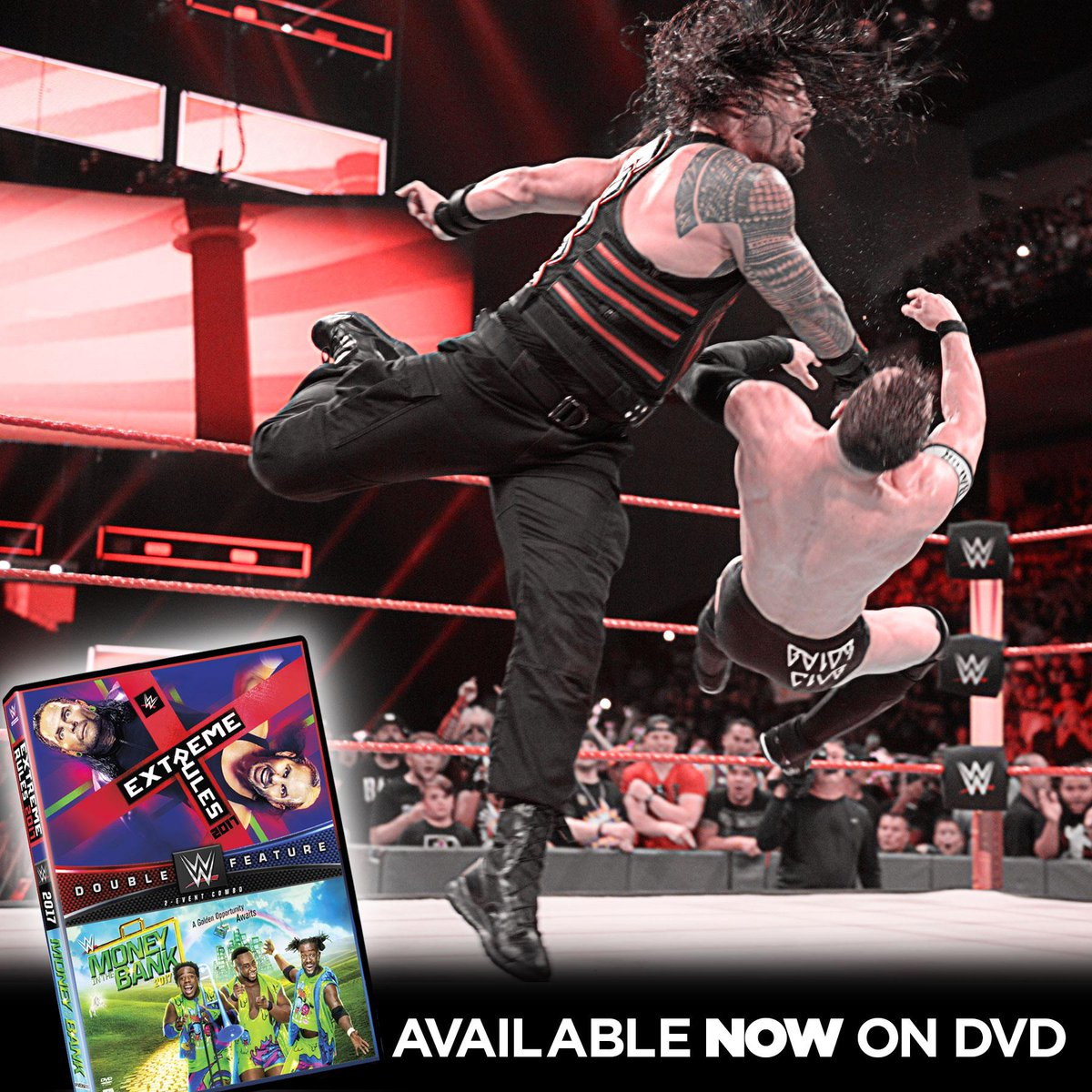 Bring home our newest double feature of @WWE #ExtremeRules & #MITB on DVD TODAY!