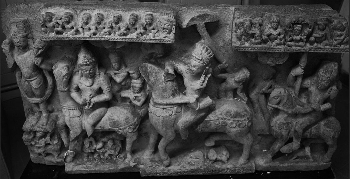 A revanta and his father sUrya perhaps from a pAla site seized from smuggler Kapoor.