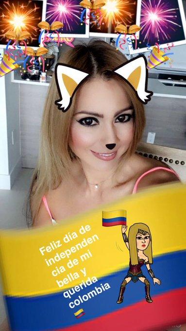 Besitos en este #20DeJulio ojalá se sientan muy orgullosos de nuestra hermosa Colombia #FelizDiaDeLaIndependencia