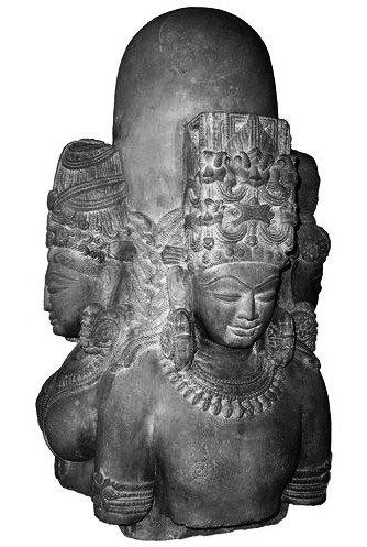 A pa~nchadevatA li~Ngam from MP; chandrAtreya probably