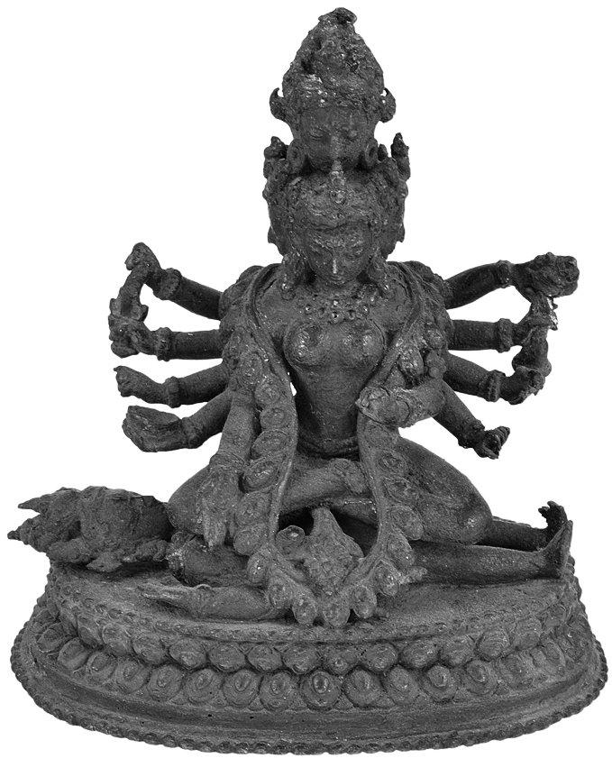 uttarAmnAya\'s goddess on the supine bhairava; Nepal