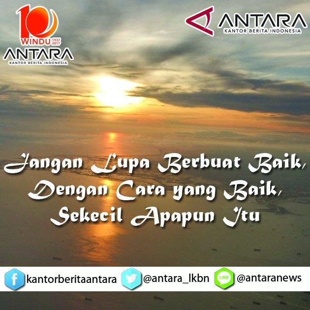 Selamat beraktivitas untuk semua Teman ANTARA 😊 Semoga hari ini dapat...