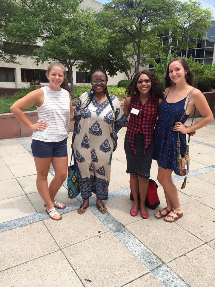 My daughters with @WashFellowship guests from #Lesotho visiting @OhioState. Lesotho is where Maddy went last year. We had a great lunch.<br>http://pic.twitter.com/SFZJ35TcaF