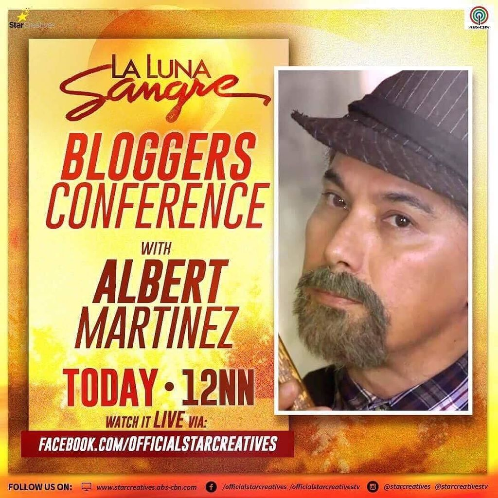 Catch Albert Martinez LIVE via the Star Creatives FB page! #LaLunaSangreBagongKagat