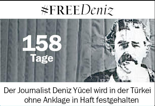 Deniz #Yücel: Seit 158 Tagen ohne Anklage in türkischer Haft - #FreeDeniz