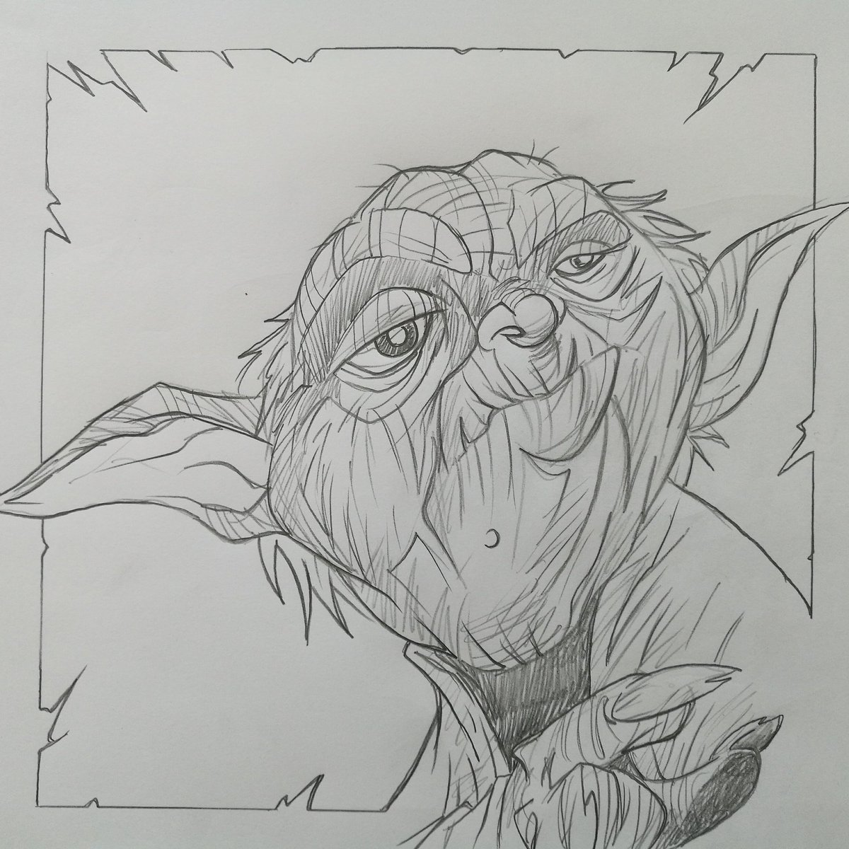#ifumissedit from yesterday&#39;s SKETCH ACTION by me #yoda #Starwars #jedi #lukeskywalker<br>http://pic.twitter.com/aoDuBuAuCW