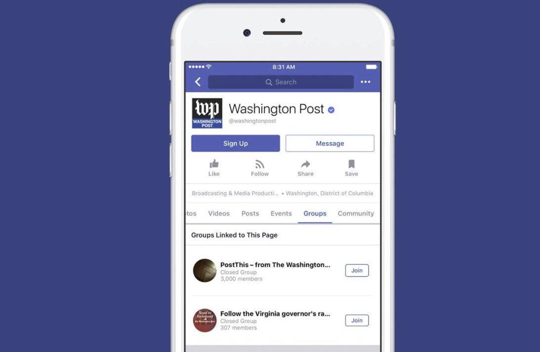 8️⃣[#ReseauxSociaux] #Facebook : toutes les pages peuvent créer des groupes https://t.co/XKu773yX1h @socialmedia2day #SMM #FlashTweet