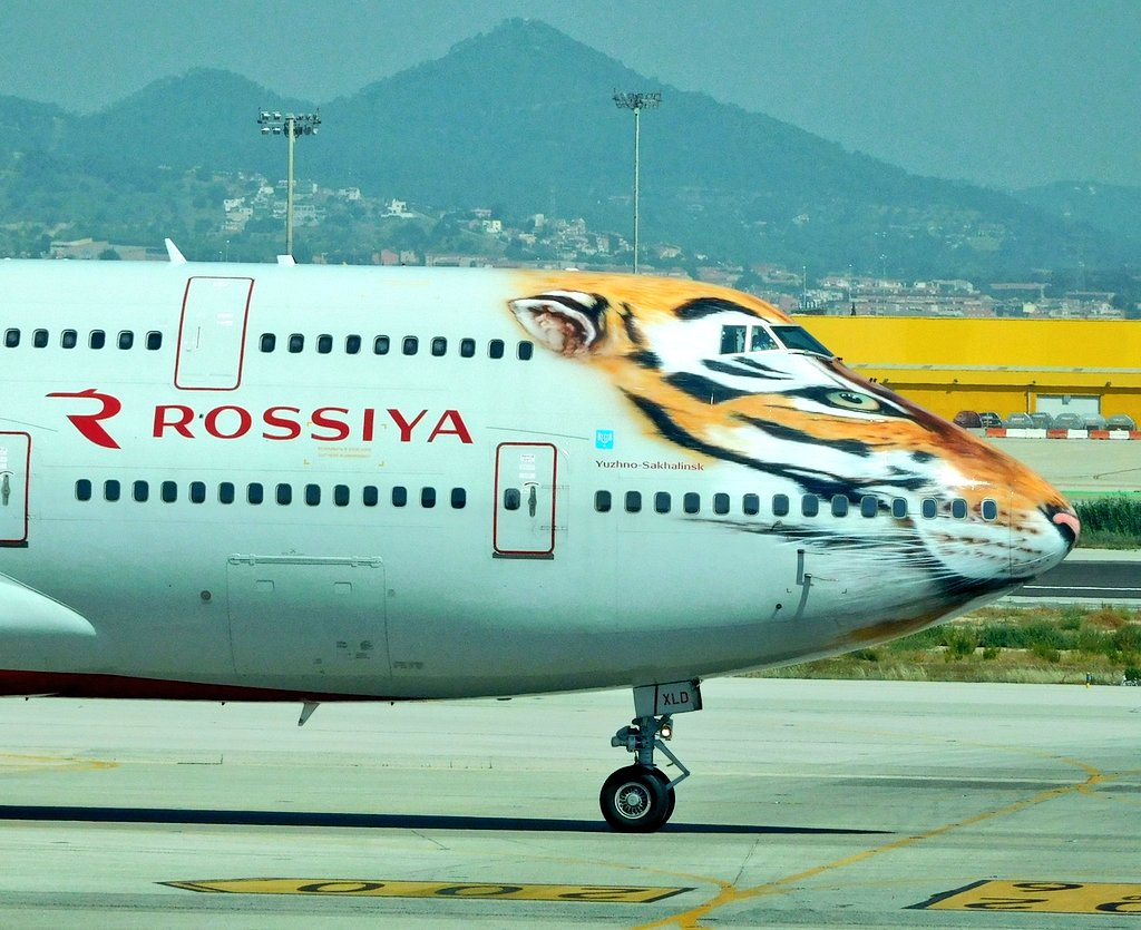 the Tiger is smiling  Rossiya Airlines Boeing 747 Queen of the Sky &amp; the eye of the tiger #BCN #Barcelona #aircraft #avgeeks <br>http://pic.twitter.com/lZAv93JQrW