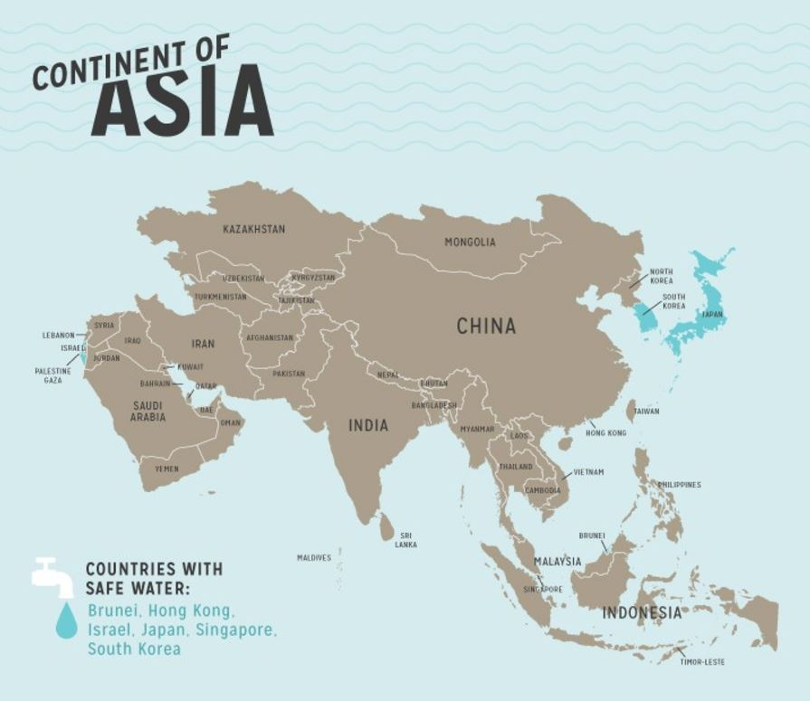 #Map shows where in #Asia tap #water is safe to drink. Data from  http:// cdc.gov  &nbsp;   and map from @NeoMamStudios .<br>http://pic.twitter.com/1y3Zg4yC2l