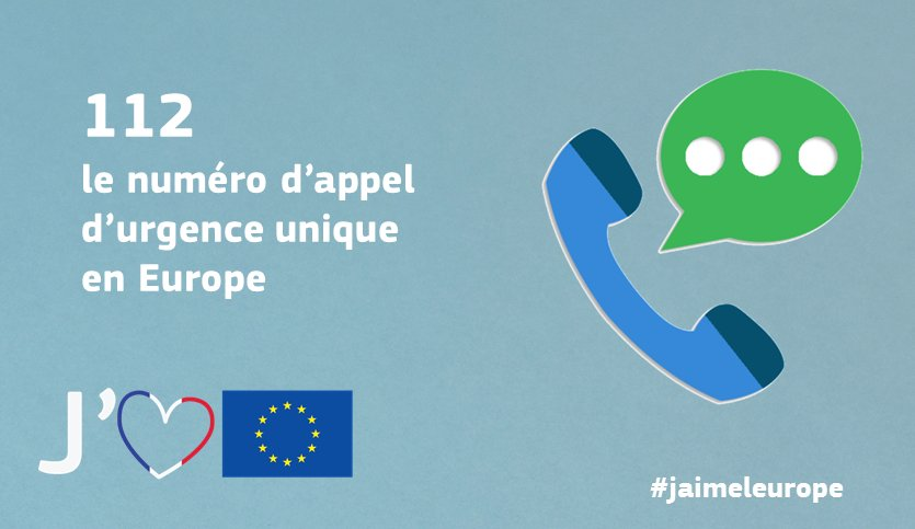 Partout dans l'UE, même sans crédit, composer le 112 vous permet d'être mis en relation avec les services d'urgence: https://t.co/KCboiCSgCS