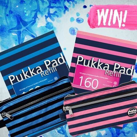 We are giving 2 people the chance to #WIN a refill pad &amp; pencil case! To #WIN, simply #RETWEET and #REPLY either pink or blue! <br>http://pic.twitter.com/NGXXMtx8yG