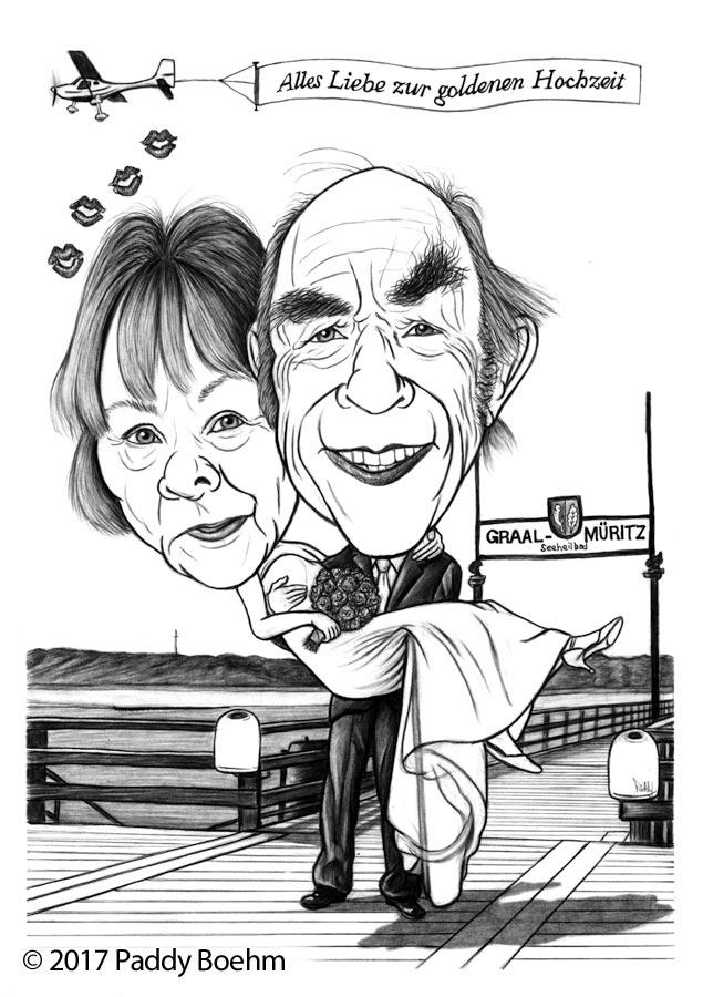 Paddy Boehm Sur Twitter Karikatur Goldenehochzeit Paar