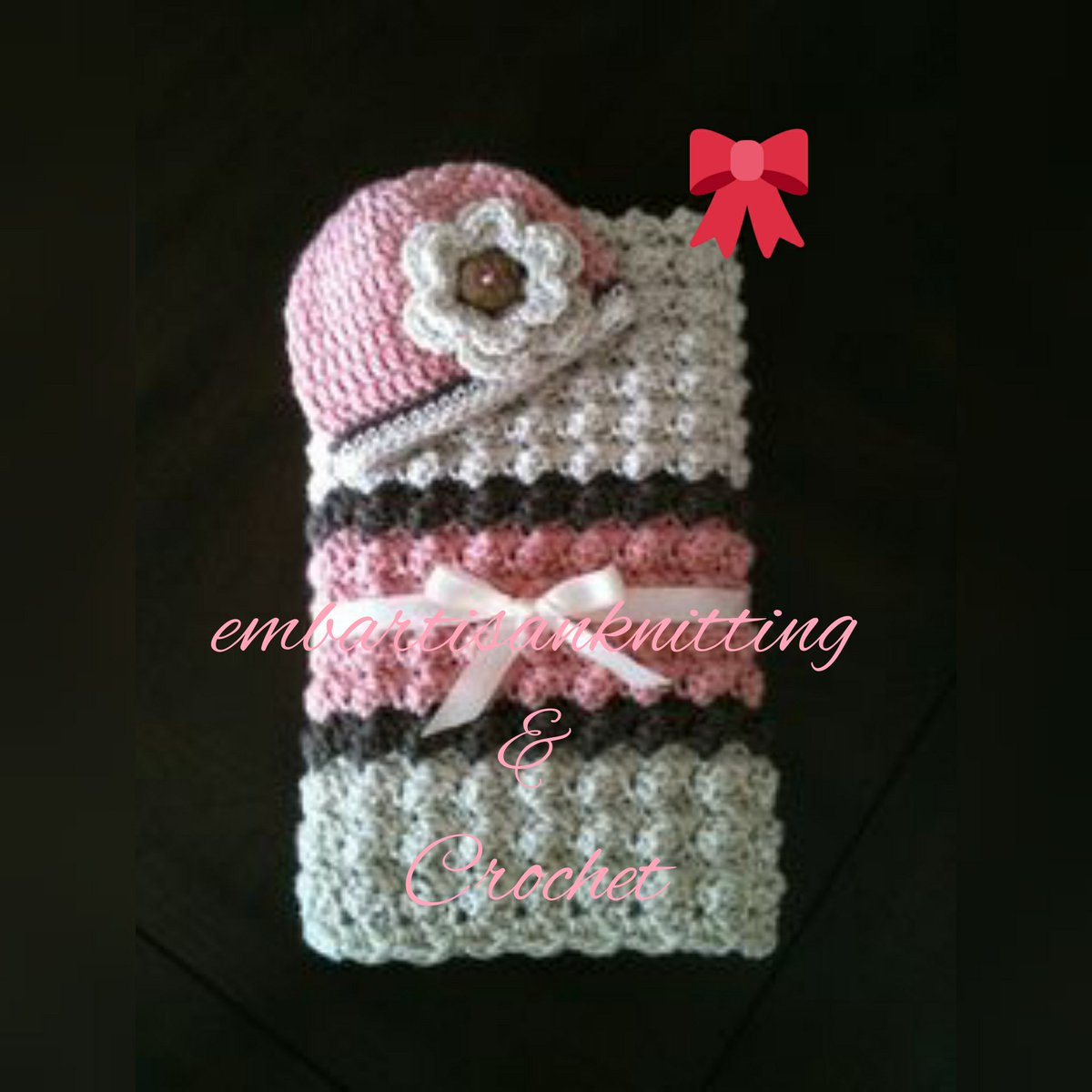 Baby #blanket and #hat set in #crochet #Ireland ,#embartisanknitting,#Spain,#France#Germany#U.S.A,#UK,#Italy,#Portugal,#Belgium.<br>http://pic.twitter.com/YnbpvKI95k