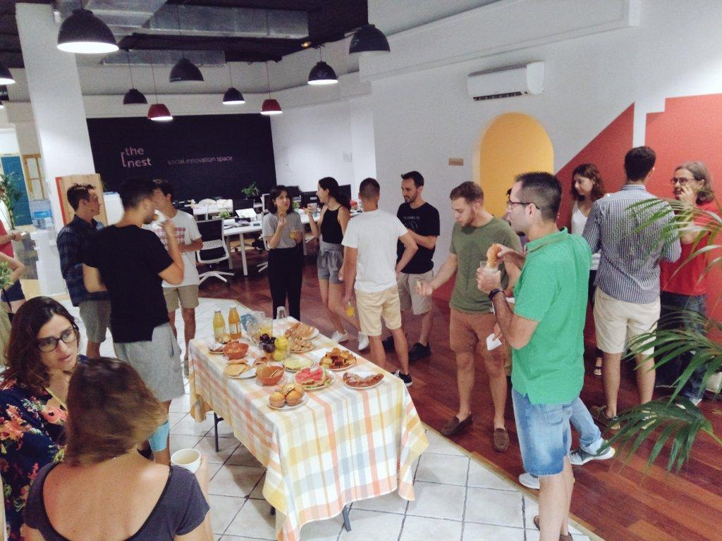 A lovely start at @thenestspace #CollaborativeBreakfast #Community #SocialEntrepreneurship <br>http://pic.twitter.com/2g1evpyxH1