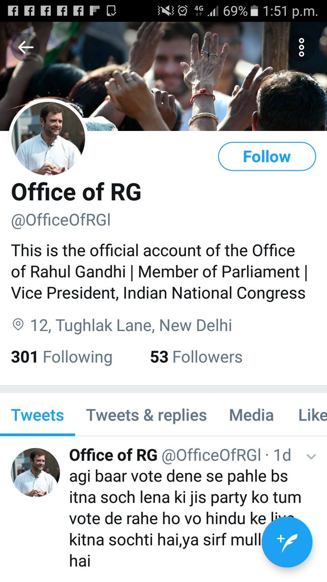 @OfficeOfRG  These fake Twitter accounts tell the mentality of #bhakts  Why are they affraid of RG? Advantage behind it is not hidden now. <br>http://pic.twitter.com/aCt5WZq9Yx
