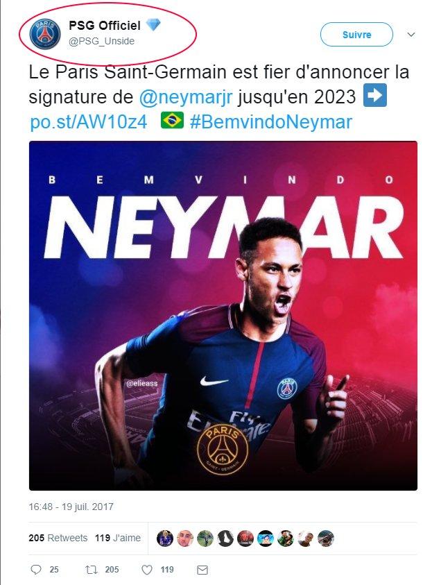 @PSG_Unside @neymarjr Le bon réflexe face à une rumeur: identifier l'auteur du message (un diamant =/= compte certifié) #NeymarPSGhttps://t.co/aXoGKe8fiN   https://t.co/P9tGdrf4
