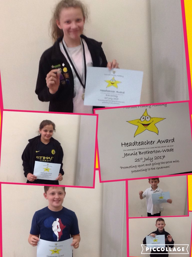 Stars for Headteachers Award. 4 for a sports presentation to governors &amp; Robert for being brilliant, yet quiet pupil. #proud #achieve <br>http://pic.twitter.com/TxktYF1Wug