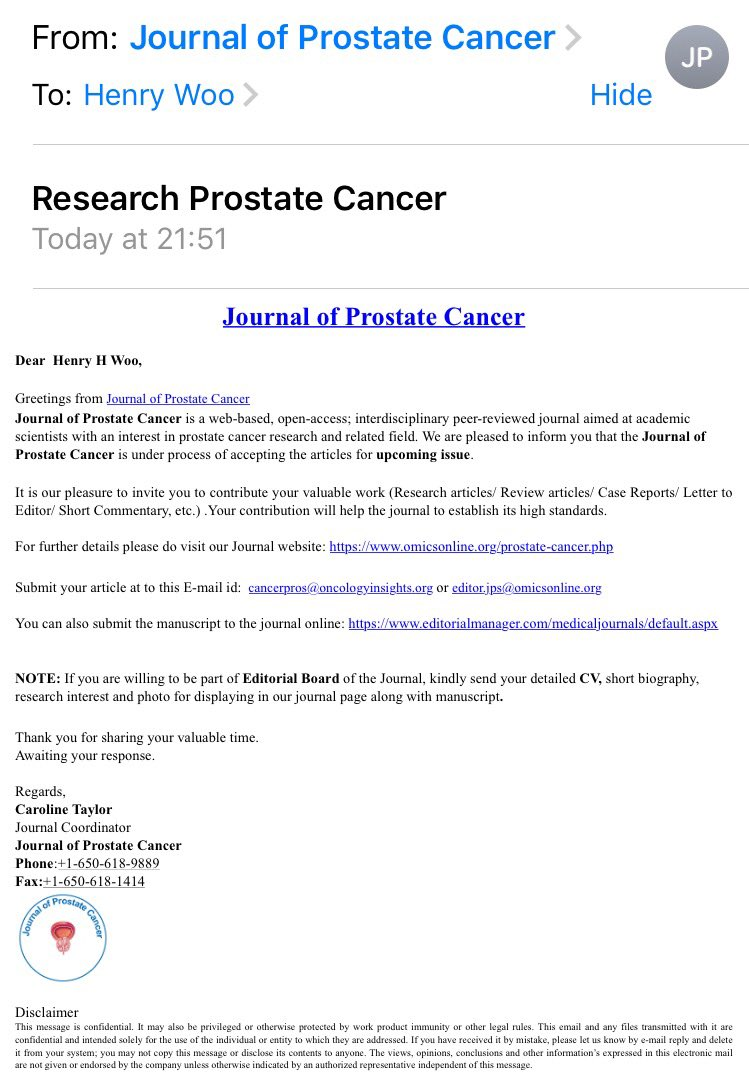Henry Woo On Twitter This Journal Of Prostate Cancer Is An Omics
