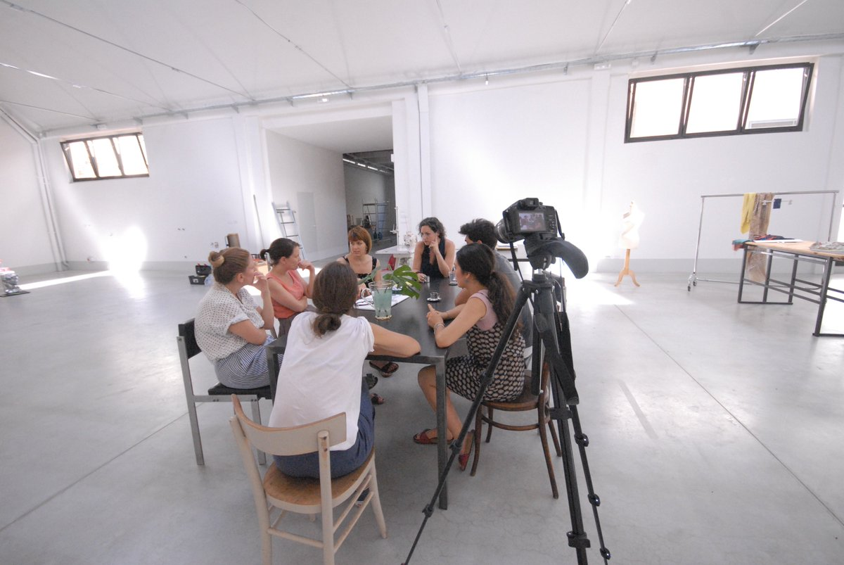 #sillumina artists talking w/ the people from @lottozero in #Prato: where #craft and #technology meet!  #fabric #contemporaryart #Italy<br>http://pic.twitter.com/p3sxE11JH4