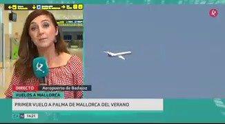 El primer vuelo #Badajoz-#Palma de @AirNostrumLAM ya ha despegado del @AeropuertoBJZ🛫. Te contamos los detalles de esta ruta veraniega. #EXN https://t.co/q5osURGTVL