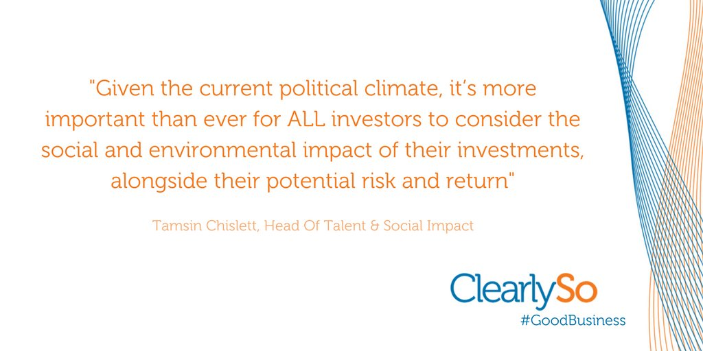 Advocates for building a better world @clearlyso #goodbusiness  http:// ow.ly/X30W309sZtx  &nbsp;   #impactinvesting <br>http://pic.twitter.com/h4bUorgLEE