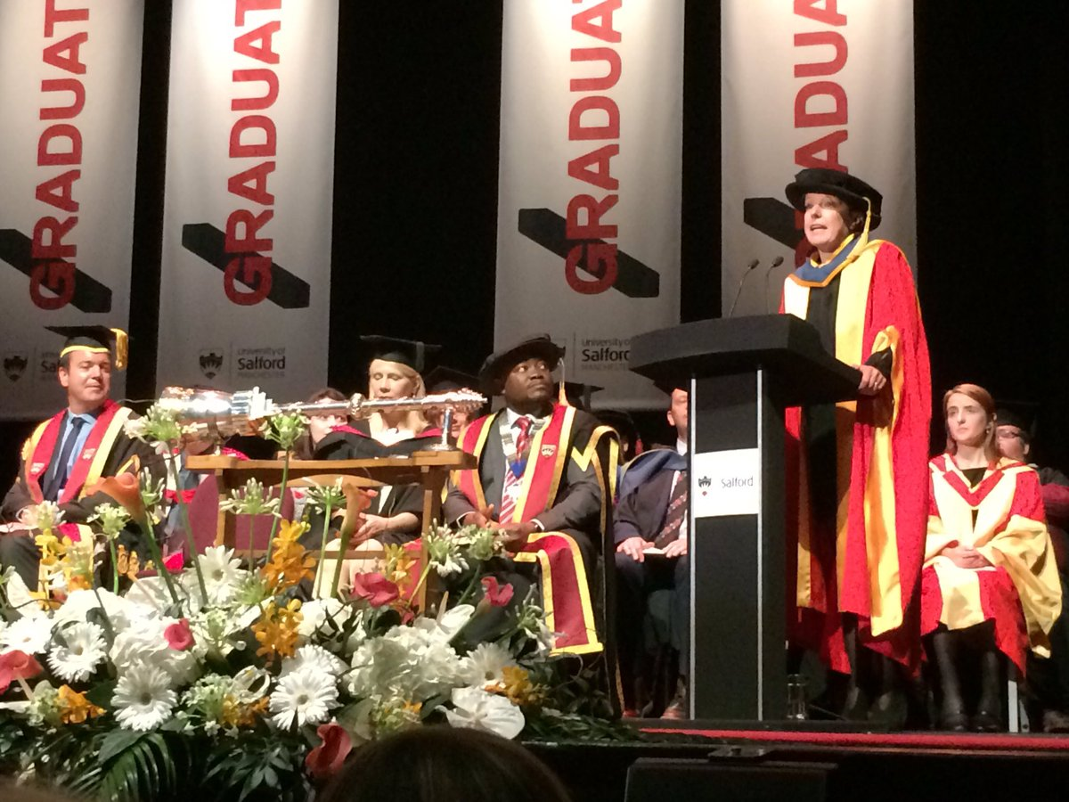 Congratulations to @AliceWebb on her honorary doctorate from @SalfordUni #outstanding <br>http://pic.twitter.com/h281VHWaAb